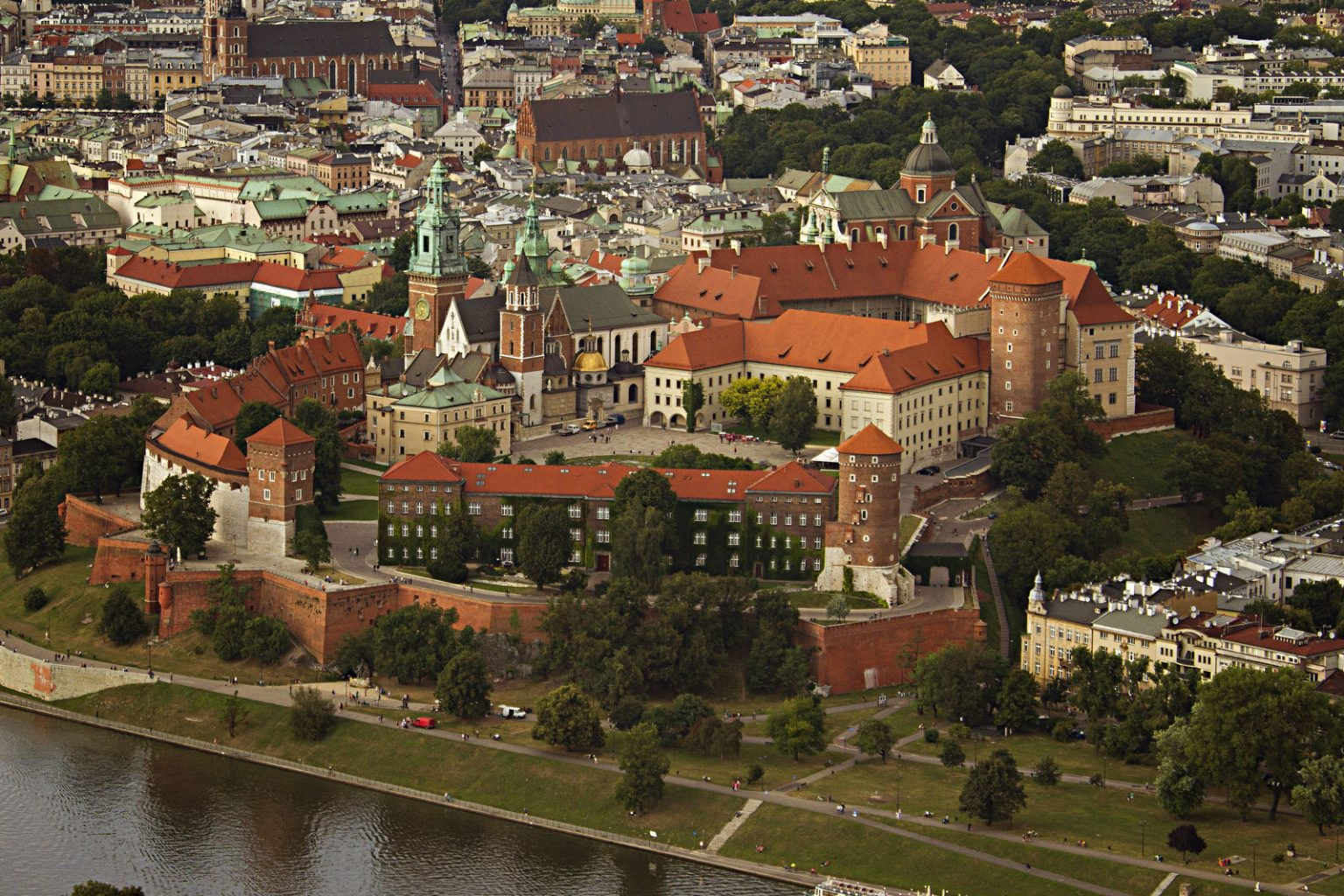 wawel hill and castle in krakkow poland