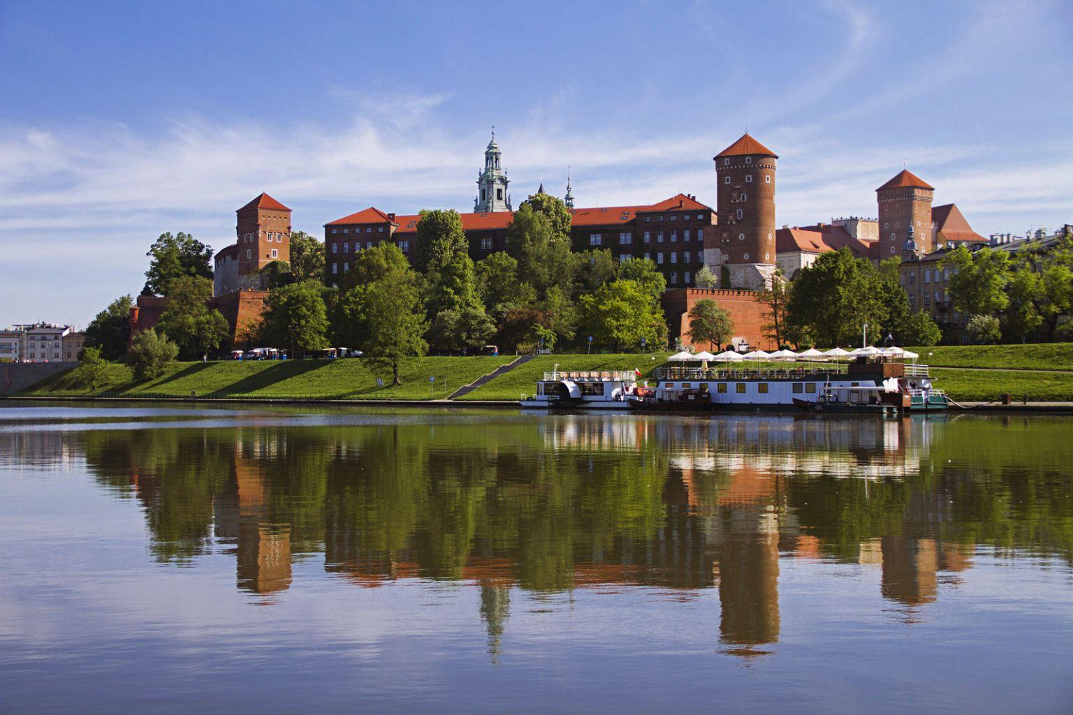 wawel hill in krakow poland