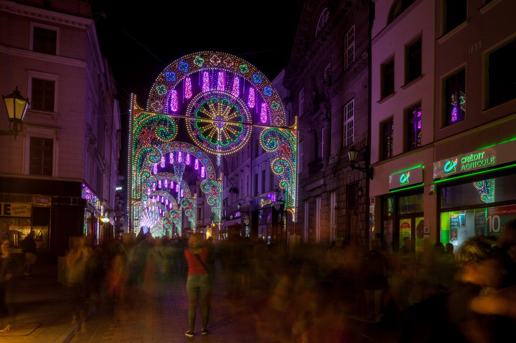 bella skyway light festival in torun