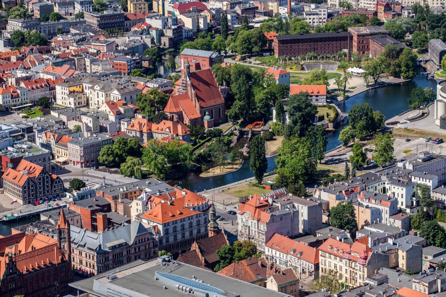 bydgoszcz from the bird's eye