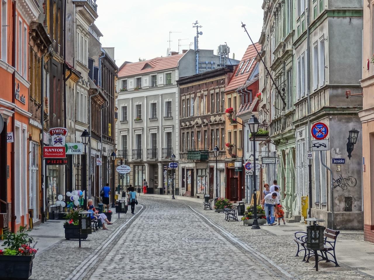 dluga street in bydgoszcz