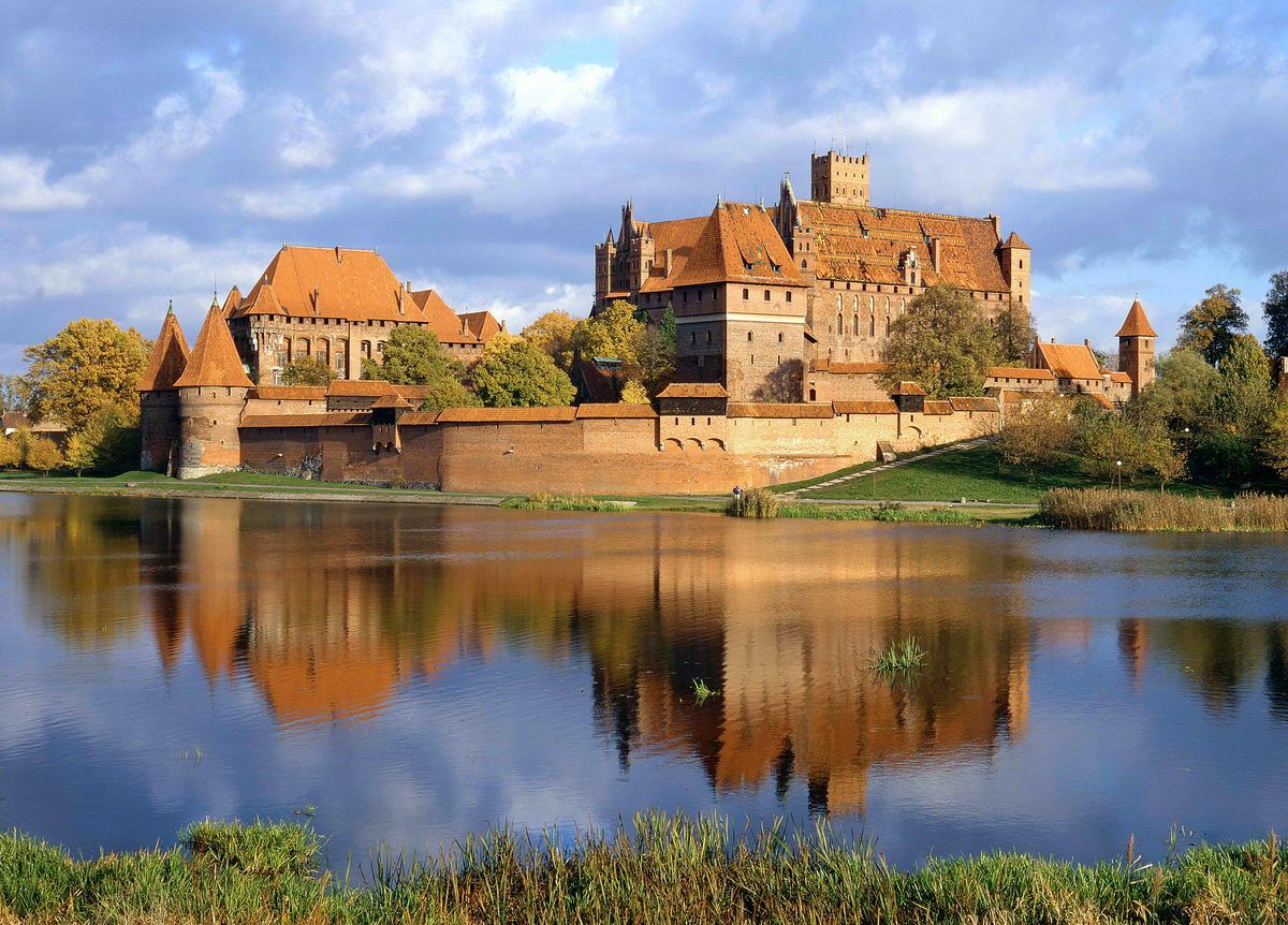 malbork castle and river nogat