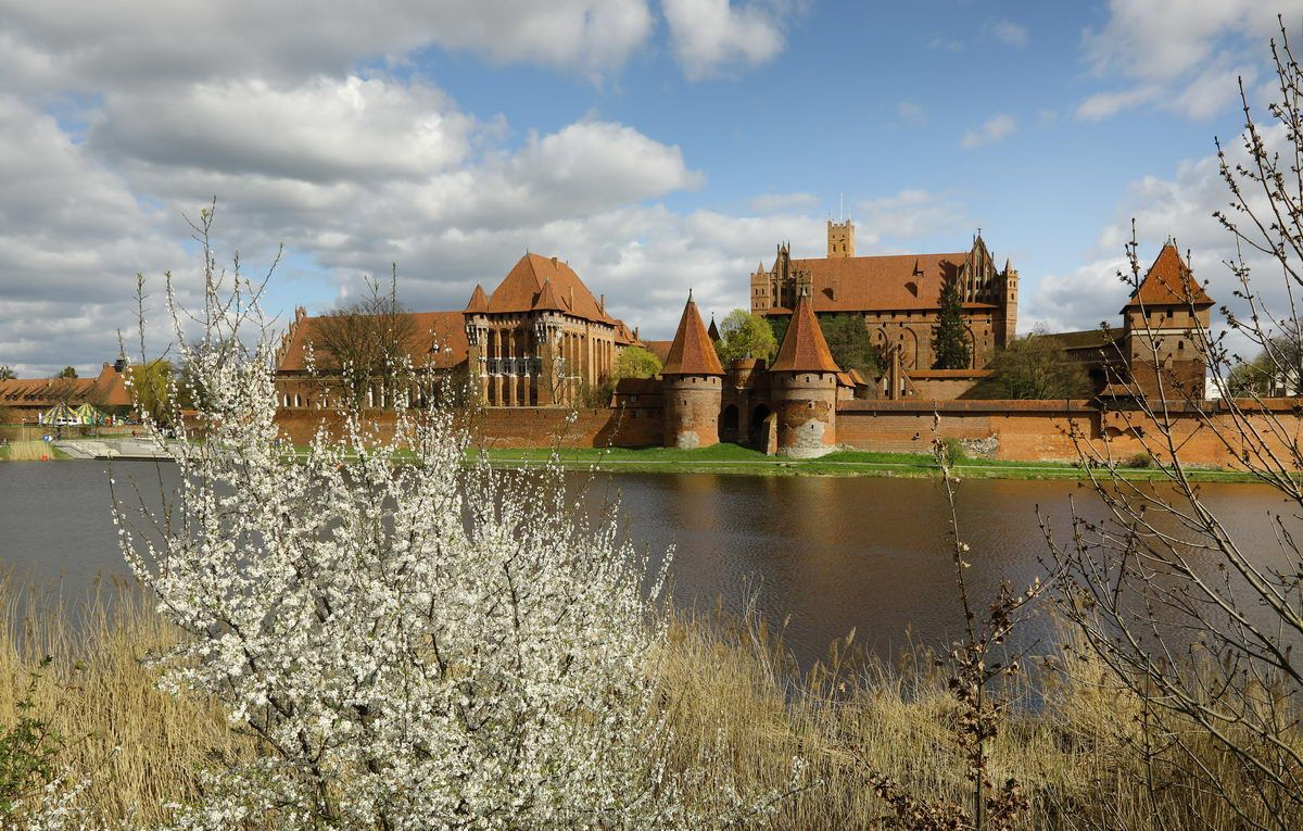 malbork castle and the river nogat