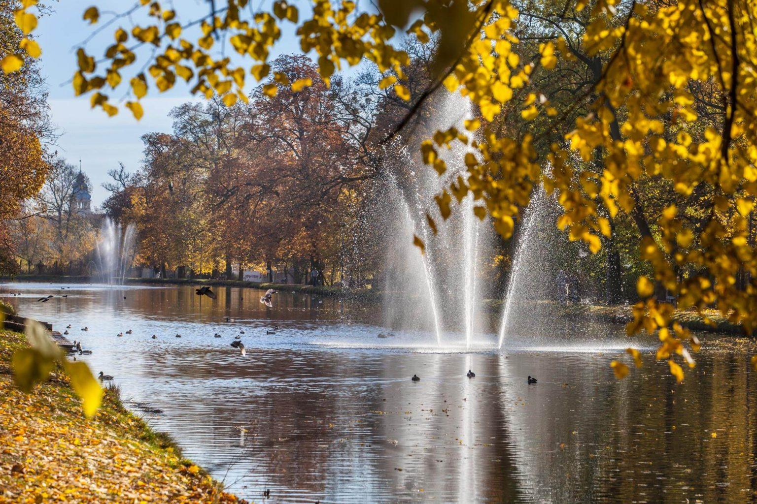 fountain on the bydgoszcz canal in bydgoszcz