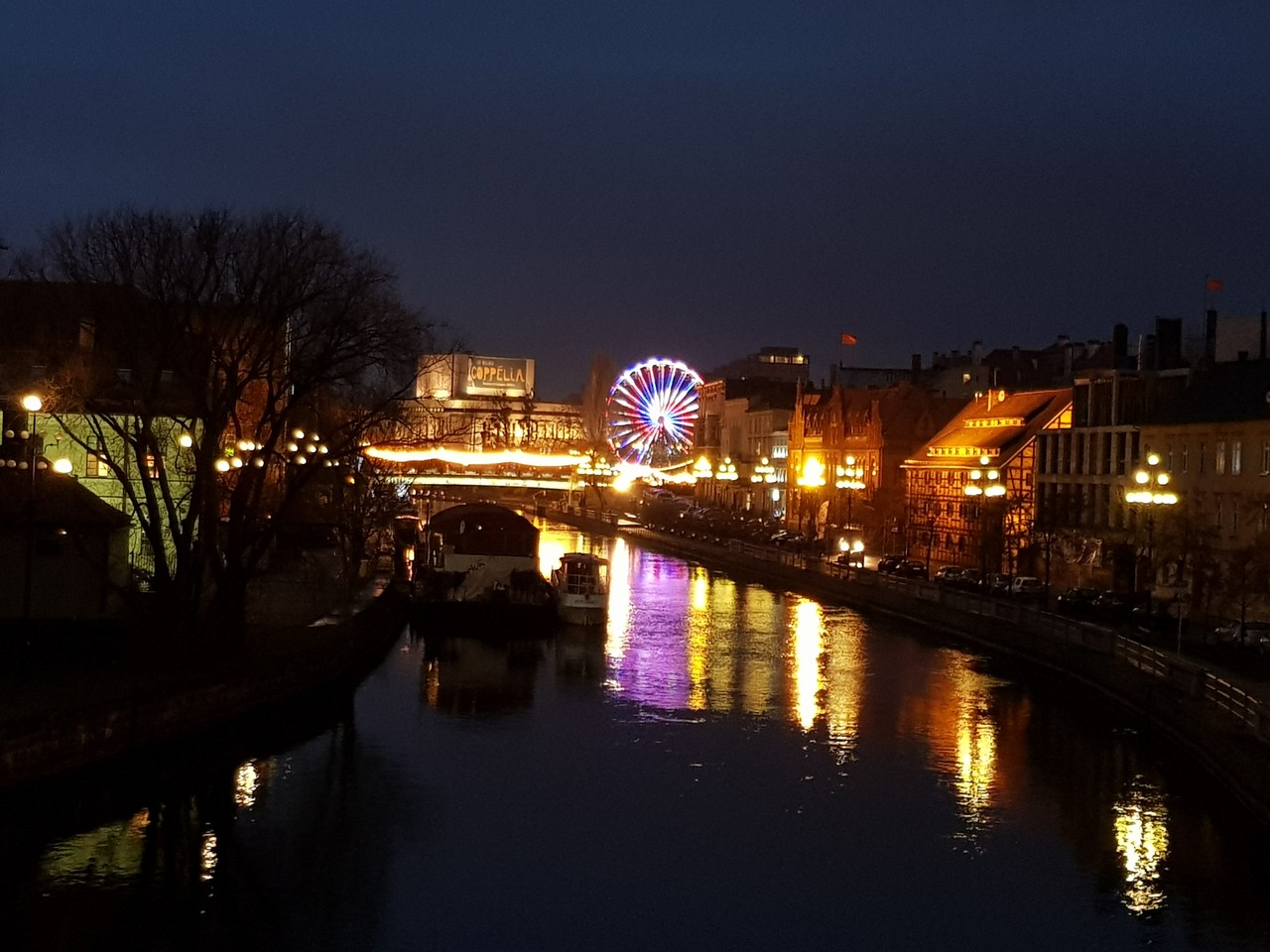 christmas market in bydgoszcz, old town