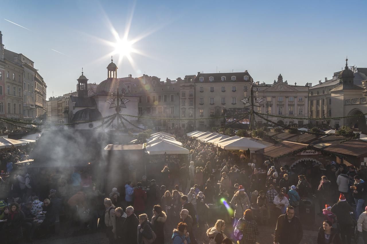 christmas market in krakow poland
