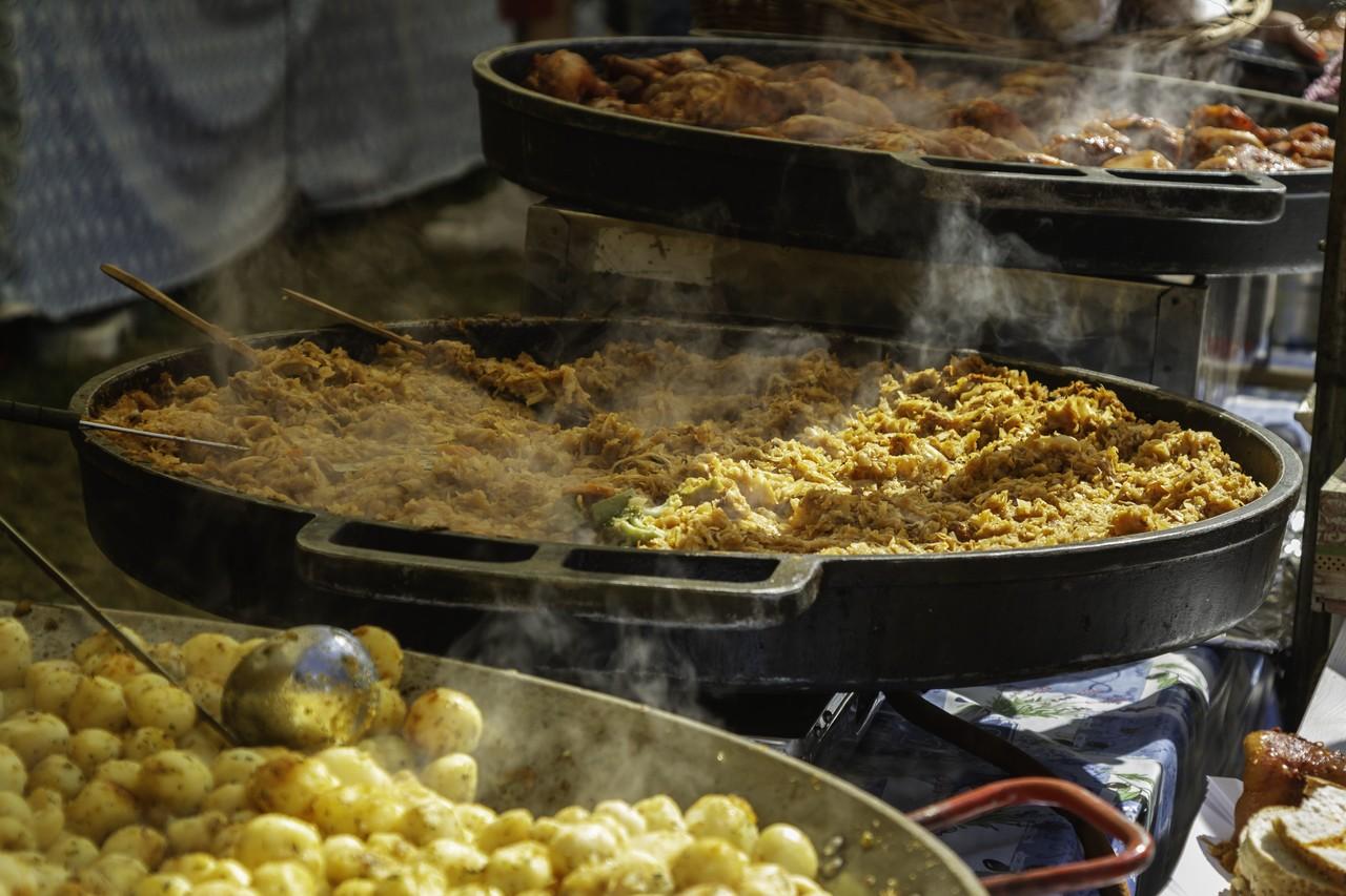 christmas food on christmas market