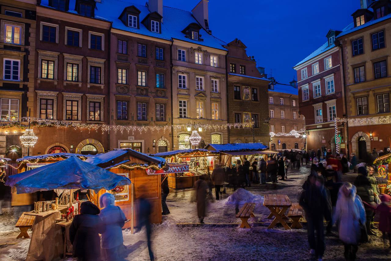 poland christmas market warsaw